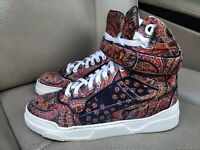 Givenchy Printed Silk Twill High Top Womens Ladies Sneakers Shoes Trainers