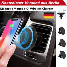 Qi Wireless Kfz Ladegerät Magnetische Halterung für iPhone XS XR X Samsung S9 S8