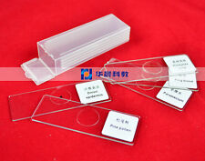 5pcs Glass Educational Lab Biological Microscope Prepared Specimen Slides