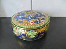 DERUTA BYZANTINE: Majolica Mosaic Dresser Box Bizzantino Pure Gold Hand Painted