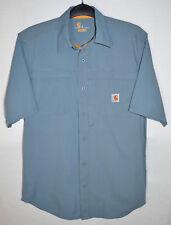 Carhartt Force Mandan Shirt Blue Relaxed Fit Vented FastDry Ripstop Men's M Reg
