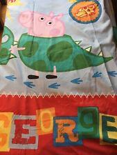 Peppa Pig Sleepy Single Duvet Cover Reversible Bedding Set George Pig Dinosaur