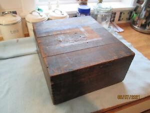 Antique Edwardian / Victorian Wooden Storage  Box