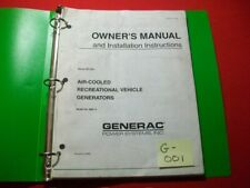 GENERAC GENERATOR AIR-COOLED RECREATIONAL VEHICLE OWNER'S MANUAL & INSTALLATION