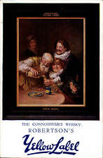 Advertising. Robertson's Yellow Label. The Connoisseur's Whisky.
