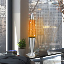 Lampe de Table Lava Lampe Salon Effet Brillant Hauteur 42,5 cm Orange Décoration