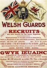 Large A3 WELSH GUARDS Recruitment Poster - British Army Recruiting (UK Made R1
