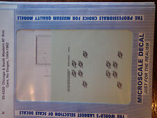 """Microscale Decal N #60-4229 C&Nw) Box Car - 40' - White Lettering, No Slogans"""""""