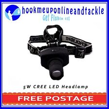 5W 160LM Cree LED Headlamp with Zoom Lens Waterproof Adjustable Light Weight