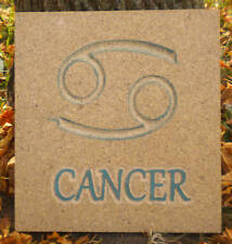 "Plaster Concrete ""Cancer"" horoscope garden plaque plastic mold see all 12 months"