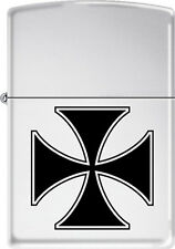 Iron Cross ~ Knight's Cross ~ German Military Award ~ Chrome Zippo Lighter