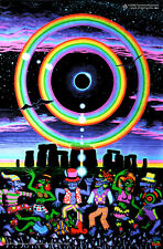POSTER UV Blacklight FLUORESCENTI Glow-In-The-Dark PSYCHEDELIC PSY australiano Trance Art