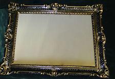 SPECCHIO antico SPECCHIO A Parete Barocco Specchio XXL NERO-ORO QUADRO LUCIDO 90x70