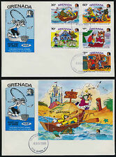 Grenada 1327-32 on FDC's - Disney, Brothers Grimm, The Fisherman and his Wife