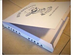 Scatole per pizze 33x33x3 (100pz) stampa Blu