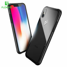FLOVEME 0.5MM Tempered Glass Clear Phone Case For iPhone X XR XS Max 8 7 6S Plus