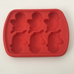 Unicorn Icy Pole Popsicle Ice Cream Frozen Tray Moulds Red Silicone