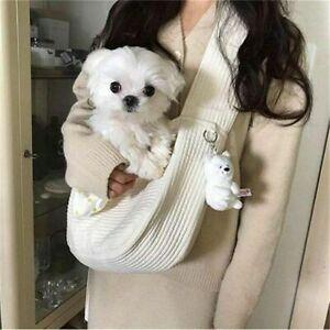 Pet Dog Carrier Outdoor Travel White Handbag Shoulder Bag Sling Carry Front Pack