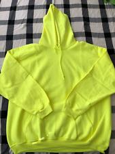 Gildan Hoodie mens XXL Volt Yellow Neon Safety