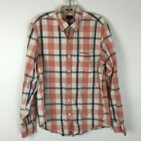 J.Crew Men's Jaspe Slim Fit Red Plaid Longsleeve Button Front Shirt Size Medium