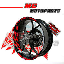"Racing Red 17"" Wheel Rim Stickers Decal Stripes GP1 Fit Universal Motorcycles"