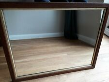 Large Antique Edwardian Oak Wooden Wall Mirror Vintage Overmantle