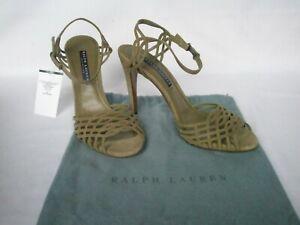 NEW RALPH LAUREN Ladies BRIANNE Sand Brown Suede Heels UK 5 EU 38 US 8 £410