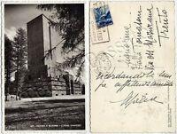 Cartolina di Cortina d'Ampezzo, ossario - Belluno, 1949