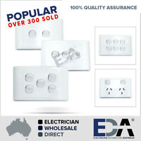 ELECTRICAL SOCKET SWITCH POWER POINT OUTLET PLATE GANG GPO SINGLE DOUBLE 2000