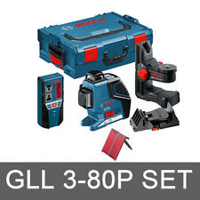 Bosch GLL3 80P+Leveling Alignment Line Laser BM1+Holder LR2 Receiver SET