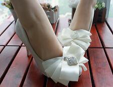 Decolté decolte scarpe donna ballerina  pizzo sposa bianco 3.5, 4.5 8.5, 11 cm