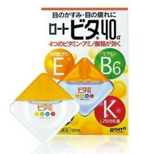 JAPAN Rohto Eye drops Vitamin B6 E Improving Eye Health Reduce Tired Eyes 12mL