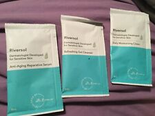 8 riversol samples new - 3 serum & 3 cleanser & 2 moisturizing cream new
