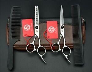 4Pcs Suit 6'' Purple Dragon Professional Hair Scissors Combs & Thinning set