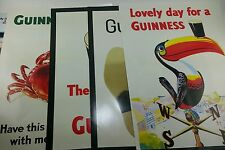 NOS Complete Classic Guinness Beer (4) PC Poster Promo Advertising Set Lot New!!