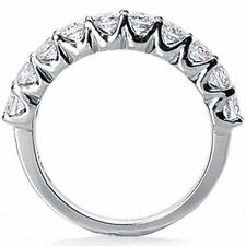 1.01 carat ROUND DIAMOND Anniversary Ring Wedding BAND 10 diamonds