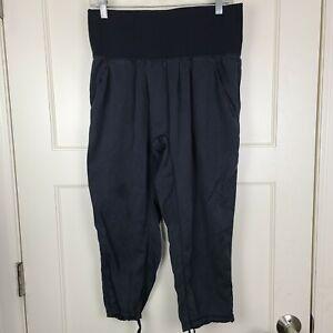 Lululemon Om Pants Women's Black Crop Loose Swift Ultra Light High Waist Size: 6