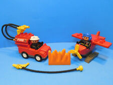 Vintage Lego Duplo Set 3083 Flying Action Airplane Missing Cardboard Base Rare!