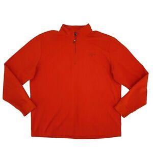 Callaway Golf Jacket Men's Size XL Orange Long Sleeve Pullover All-Weather