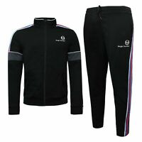 Sergio Tacchini Mens Darcy Tracksuit Lounge Track Top Pants Black 38365 192