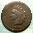 1866 Indian Head Penny G GOOD Post CIVIL WAR LOW 9.8 MiL RARE Semi-Key More HERE for sale