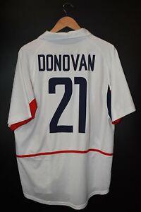 USA LANDON DONOVAN 2002 WORLD CUP ORIGINAL JERSEY Size L (GOOD)