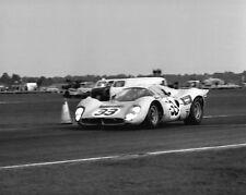 Vintage 8X10 1967 Daytona Ferrari 330 P3 / 412P Mairesse/Blaton