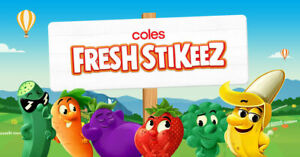 Coles Fresh Stickeez Collectibles 2019 • Cheapest • FLAT PRICE • FREE POSTAGE