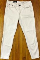 J Crew Toothpick Womens Slim Skinny Stretch Jeans Tag Size 31 Actual 34x28 White