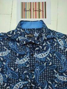 Paul Smith Shirt SIZE M - Crazy Paisley Print - Excellent Condition - COOL !!!