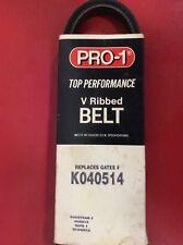 Serpentine V Ribbed Serpentine Belt Pro-1 K040514 5040515 Fits  Chevy GMC