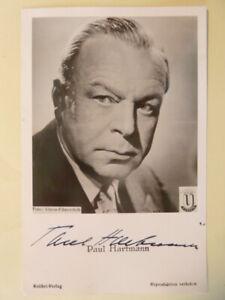 Paul Hartmann † 1977, Kolibri Autogrammkarte (50ger Jahre)