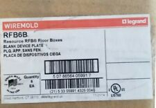 Lot of 6 Wiremold RFB6B Blank Device Plate ** New In Box, Free Shipping **