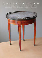 HOWARD VERBECK! LOUIS XVI MARBLE SIDE TABLE! 1920s VTG MID CENTURY ART DECO WOOD
